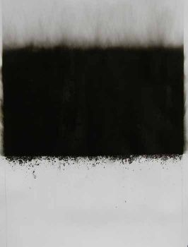 Soot and dry cold water on paper. SOLD.